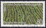 Sellos del Mundo : Europa : Alemania : 25 años Deutsche Welthungerhilfe
