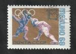 Sellos del Mundo : Europa : Rusia :  3392 - Olimpiadas de Mexico 68, esgrima