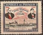 Sellos del Mundo : America : Paraguay : Cincuentenario Flota mercante