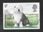Sellos de Europa - Reino Unido -  851 - Perros Británicos