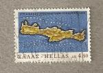 Sellos del Mundo : Europa : Grecia : Mapa de Creta