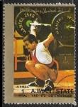 Sellos del Mundo : Asia : Emiratos_Árabes_Unidos : Juegos Olimpicos 1972 - Halterofilia