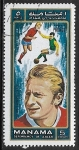Sellos del Mundo : Asia : Emiratos_Árabes_Unidos : Football de playa - Denis Law (*1940),
