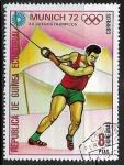 Sellos del Mundo : Africa : Guinea_Ecuatorial : Juegos Olimpicos de Verano Munich 1972 - Lanzamiento de Martillo