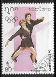 Sellos del Mundo : Asia : Laos : Juegos Olimpicos de Invierno - Albertville 1992