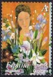 Sellos del Mundo : Europa : España : Mujer con flores