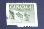 Sellos de America - Canadá -  Bandera