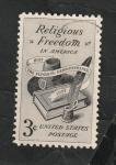 Sellos del Mundo : America : Estados_Unidos : 635 - Libertad religiosa