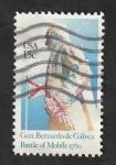 Sellos del Mundo : America : Estados_Unidos : 1286 - General Bernardo de Galvez, batalla de Mobile