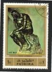 Sellos del Mundo : Asia : Emiratos_Árabes_Unidos :  110  FUJEIRA  le Penseur