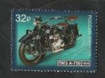Sellos del Mundo : Europa : Rusia :  8076 - Moto, PMZ A-750, de 1934