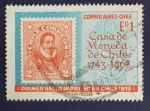 Sellos de America - Chile -  Primer sello chileno
