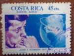 Sellos de America - Costa Rica -  Kennedy