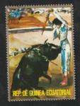 Sellos del Mundo : Africa : Guinea_Ecuatorial :  61 - Tauromaquia, colocación de banderillas