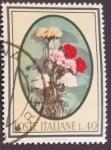 Sellos de Europa - Italia -  Flores