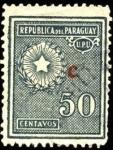 Sellos del Mundo : America : Paraguay : Estrella de cinco puntas, palma y olivo, del escudo sobreimpreso C.