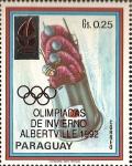 Sellos de America - Paraguay -  Olimpiada de invierno 1992