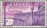 Sellos del Mundo : Europa : España : ESPAÑA 1960 1269 Sello Nuevo Fiesta Nacional Tauromaquia Plaza de Sevilla Correo Aereo