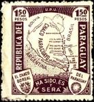 Sellos del Mundo : America : Paraguay : Mapa del Chaco. El Chaco Boreal, ha sido, es y será del Paraguay.