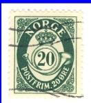 Sellos de Europa - Noruega -  escudo real
