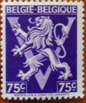 Sellos del Mundo : Europa : Bélgica : escudo