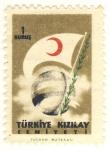 Sellos del Mundo : Asia : Turquía : bandera media luna roja