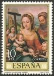 Sellos del Mundo : Europa : España : 2538 - dia del sello, juan de juanes (IV centº de su muerte), sagrada familia