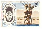 Sellos del Mundo : Africa : Kenya : Escultura makounde