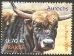 Sellos del Mundo : Europa : Francia : 4374 - Uro, animal desaparecido