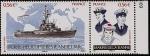 Sellos de Europa - Francia -  Retiro del navio escuela Porta-helicópteros Juana de Arco