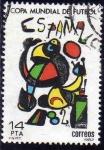 Sellos del Mundo : Europa : España : ESPAÑA 1982 2644 Sello Copa Mundial de Futbol ESPAÑA'82 Cartel Joan Miro Usado Yvert2272 Scott2280
