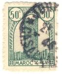 Sellos de Africa - Marruecos -  torre