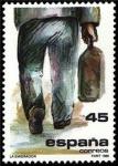 Sellos del Mundo : Europa : España :  ESPAÑA 1986 2846 Sello Nuevo La Emigración Figura hombre con maleta alejandose Yvert2455 Scott2474