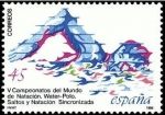 Sellos del Mundo : Europa : España :  ESPAÑA 1986 2852 Sello Nuevo Deportes Camp. Mundo Natación, Waterpolo, Saltos y Sincronizada Yv.2473