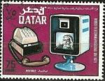 Sellos de Asia - Qatar -  Telecomunicaciones