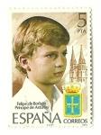 Sellos del Mundo : Europa : España : Felipe de Borbón , Príncipe de Asturias