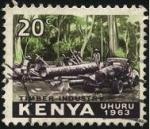 Sellos del Mundo : Africa : Kenya : 1963 año de la independencia de KENIA. Industria de la madera.