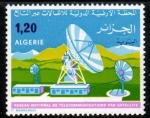 Sellos del Mundo : Africa : Argelia : Red Nacional de Telecomunicaciones por satelite