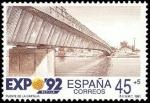 Sellos de Europa - España -  ESPAÑA 1991 3102 Sello Nuevo Exposición Universal Sevilla 1992 Puente de la Cartuja Michel2978 Scott