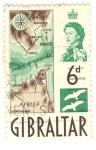 Sellos del Mundo : Europa : Gibraltar : Strait of Gibraltar