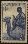Sellos de Africa - Mauritania -  Jinete y camello.