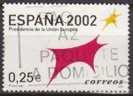 Sellos del Mundo : Europa : España : ESPAÑA 2002 3865 Sello Presidencia Union Europea Toro Logotipo Usado