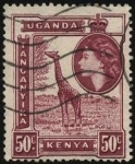 Sellos del Mundo : Africa : Kenya : Kenia, Uganda, Tanganika, girafa.
