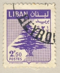 Sellos del Mundo : Asia : Líbano : escudo cedro libanes