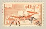 Sellos del Mundo : Asia : Líbano : embarcando en avion