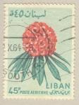 Sellos del Mundo : Asia : Líbano : flor