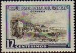 Sellos del Mundo : America : Uruguay :  URUGUAY 1969 Sello Nuevo Paisajes Puerta Exterior de Montevideo Usado