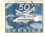 Sellos de Europa - Suecia -  El aeropuerto