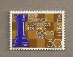 Sellos de Europa - Suiza -  XVIII Torneo olímpico de ajedrez