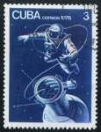 Sellos de America - Cuba -  Astronauta sovietico
